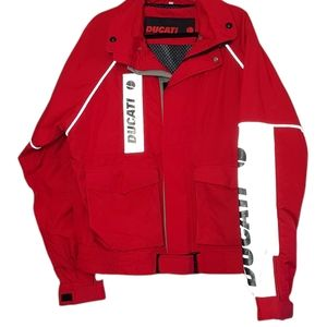 Ducati size XL red black reflective silver weather track pit jacket
